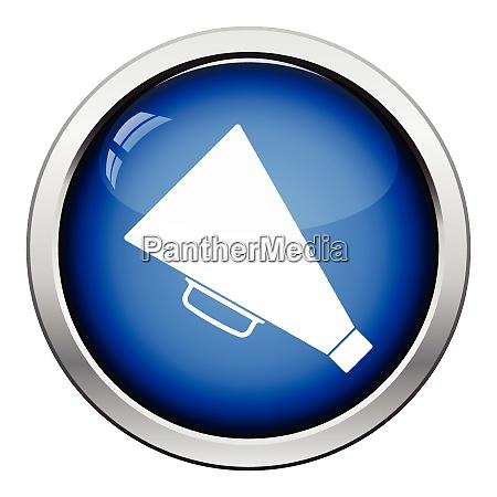 director megaphone icon glossy button design