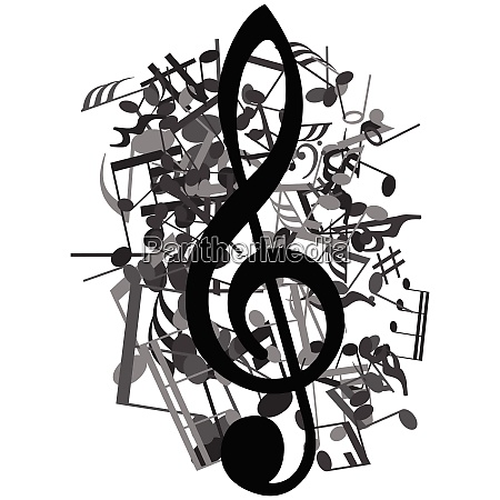 black and white musical design from
