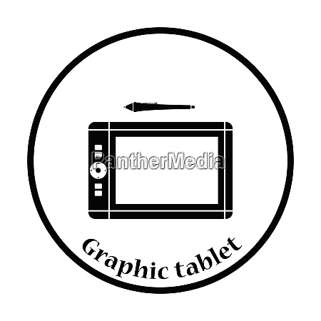 graphic tablet icon flat color design