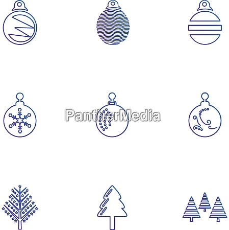 christmas balls snowflakes tress