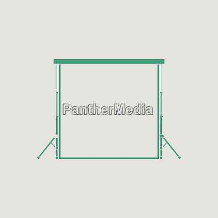 icon of studio photo background gray