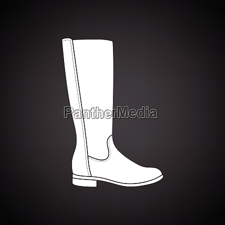 autumn woman boot icon black background