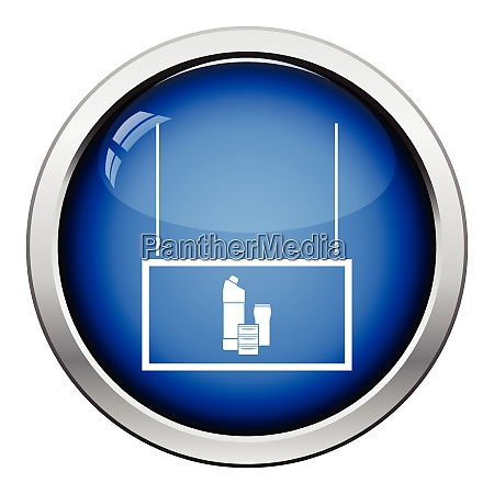 household chemicals market department icon glossy