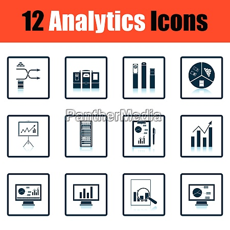 analytics icon set analytics icon set