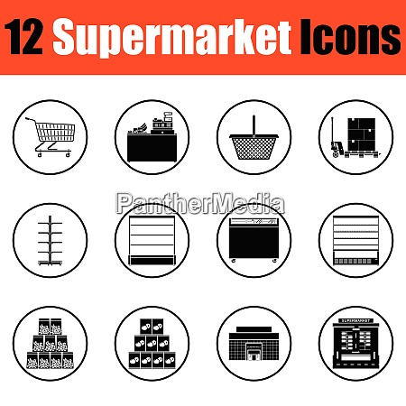 supermarket icon set supermarket icon set