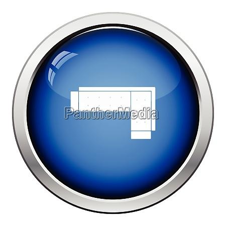 corner sofa icon glossy button design