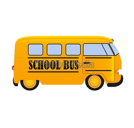 school bus icon isolated on white