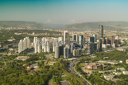 aerial view of new istanbul with