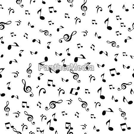 abstrakt, musik, noterer, seamless, mønster, baggrund, vector-illustration, til, dit, design - 26261839