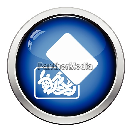 icon of worm container glossy button