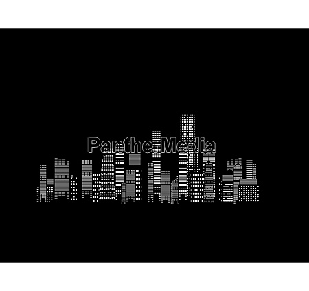 vector illustration of cities silhouette on