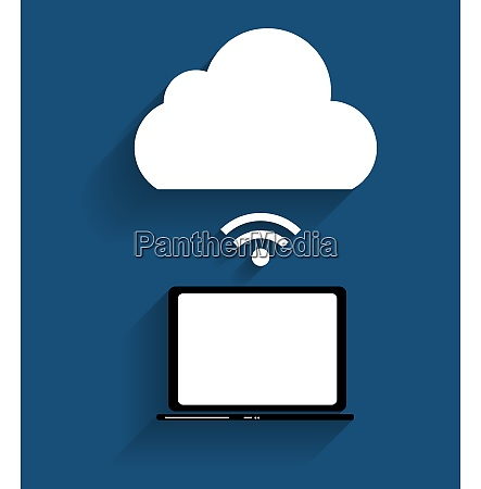 cloud computing koncept pa forskellige elektroniske
