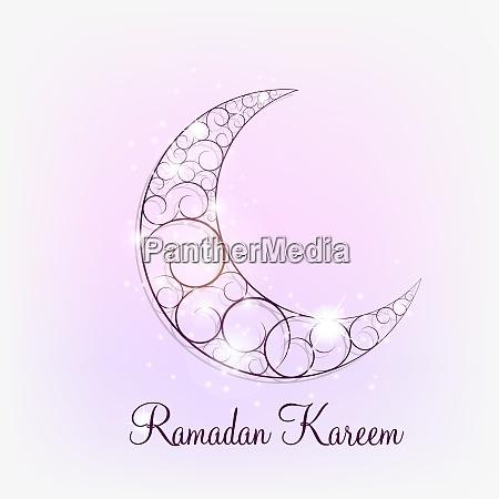 moon background for muslim community festival