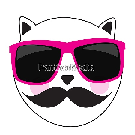 cute handdrawn cat isolated vector illustration