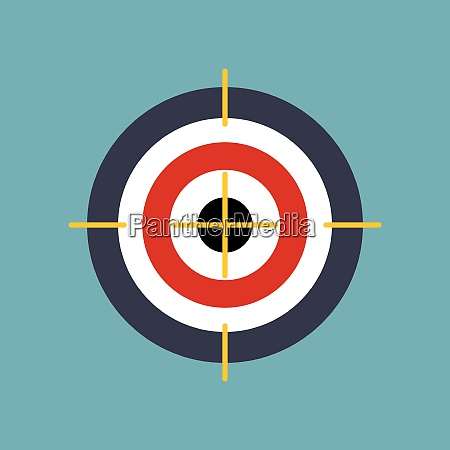 target flat concept icon vector illustration