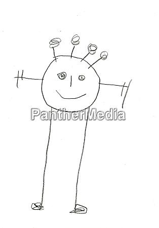 tegning af born