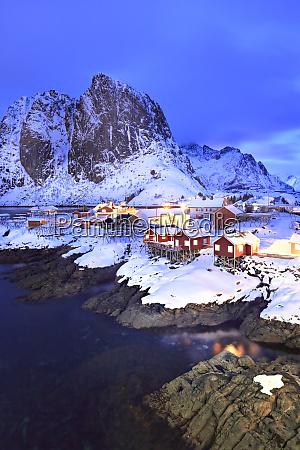 norway lofoten hamnoy island fishermans cabins
