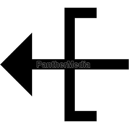 sort og hvid skilt symbol logo