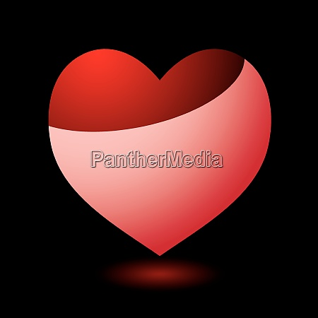 valentines, day, heart, with, black, background - 26465250