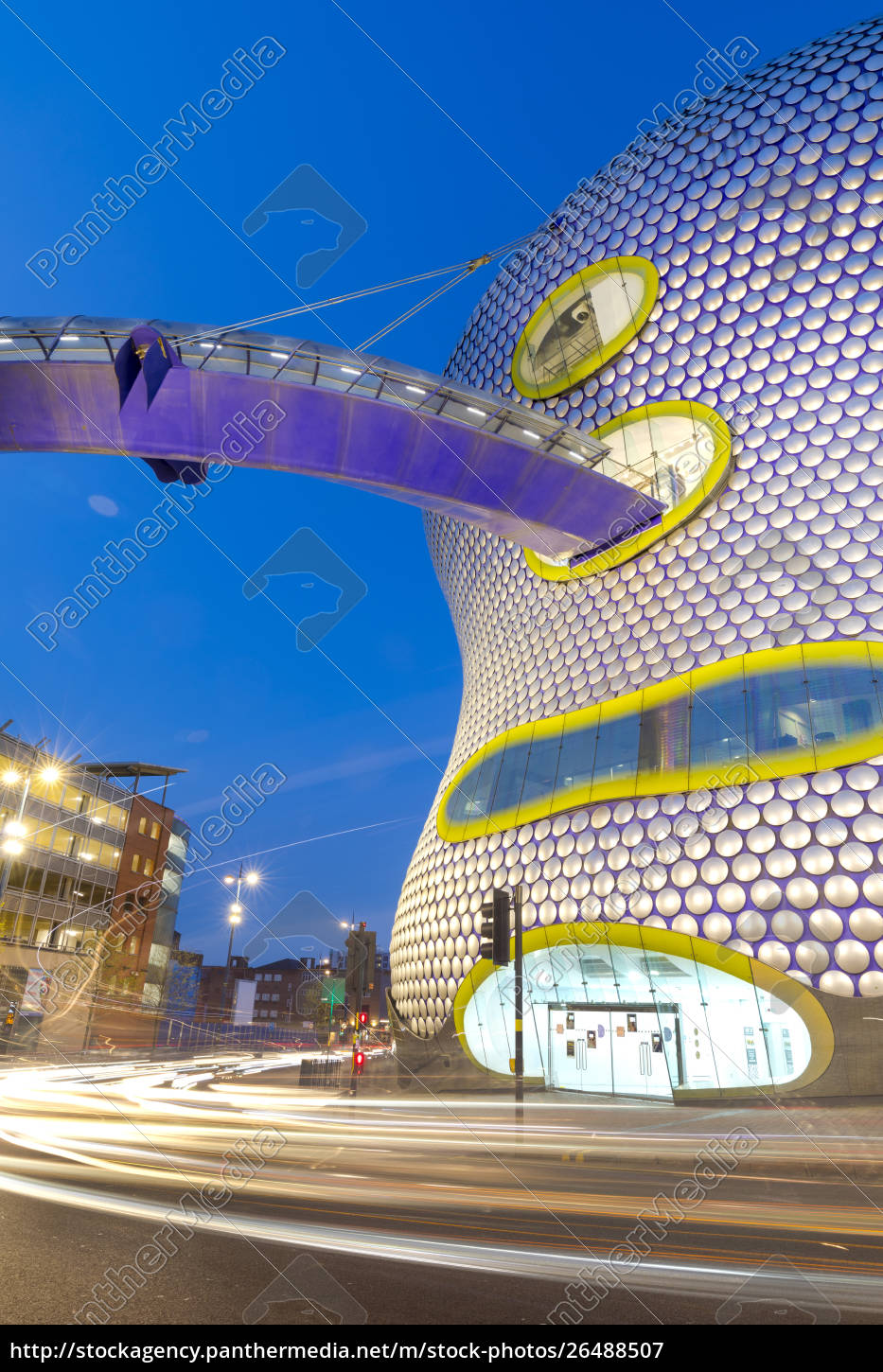 selfridges, building, at, dusk, , birmingham, , england, - 26488507