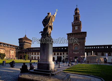 castello sforzesco milan lombardy italy europe