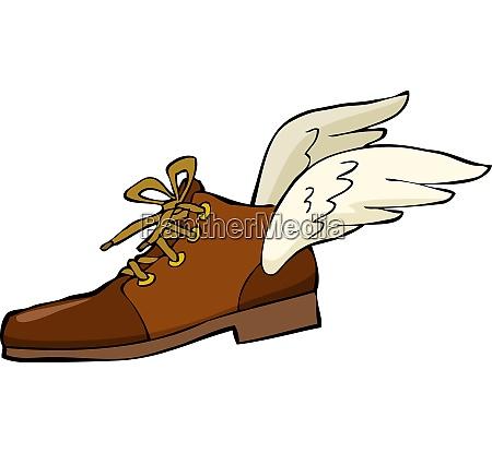sko hos vinger pa en hvid