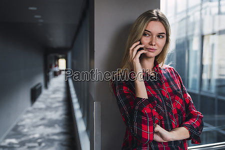 portrait of young woman on the