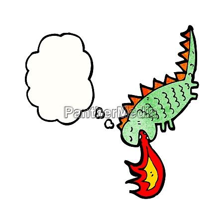 cartoon fire breathing monster