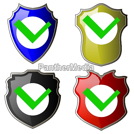 security check icon shield logotype protect