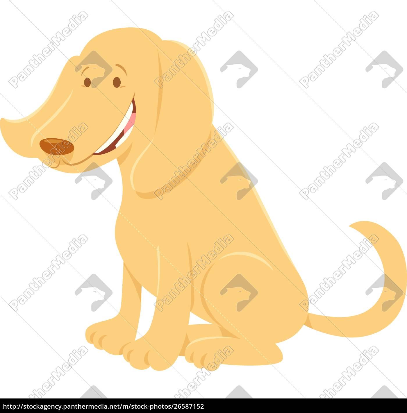 glad, beige, hund, tegneserie, animalsk, karakter - 26587152