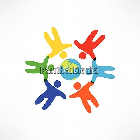 verdens venskab ikon