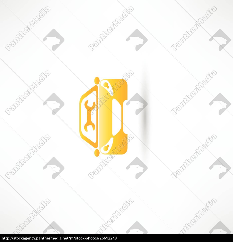 gul, front, bil - 26612248