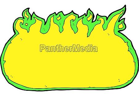 cartoon green fire border