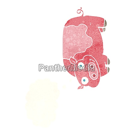 cartoon pig with thought bubble