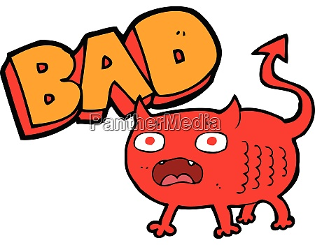 cartoon bad little devil cartoon