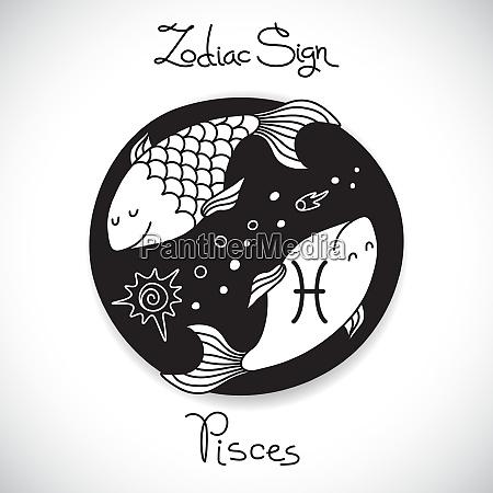 pisces zodiac sign of horoscope circle
