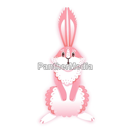 surprised cartoon rabbit funny bunny cute