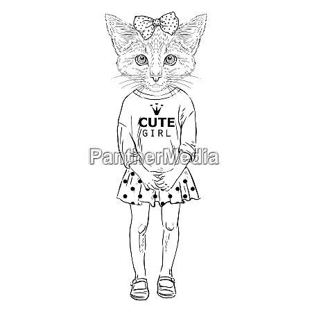 humanimal kitty girl cat girl kidl