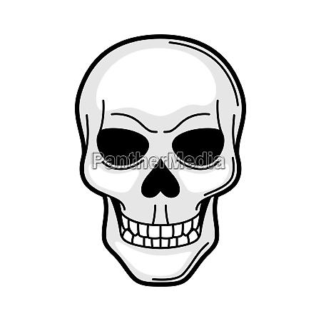 skull retro tattoo symbol cartoon old