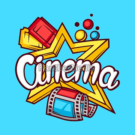 cinema and movie advertising background in