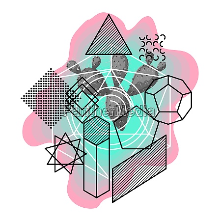 background with abstract geometric shapes and