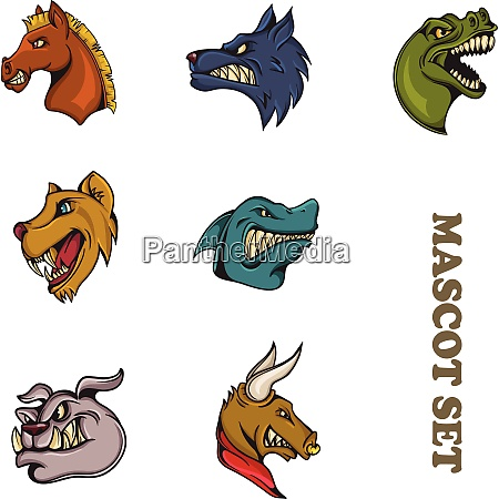 animal cartoon mascot animal cartoon mascot
