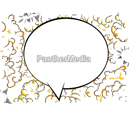 tegneserie baggrund med stor blank taleboble