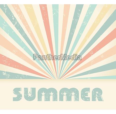 sommer vintage vektor baggrund