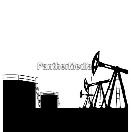 illustration oil pump jack for petroleum