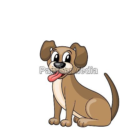 cartoon dog sitting in collar funny
