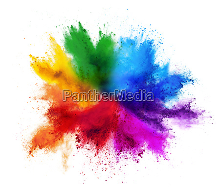 farverig regnbue holi maling farvepulver eksplosion