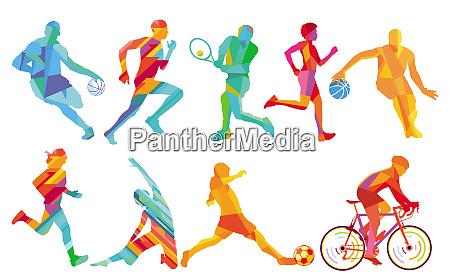 sport og leg basketball fodboldspiller cykling