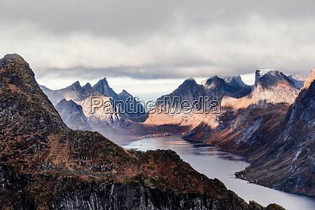norway lofoten islands reine view from