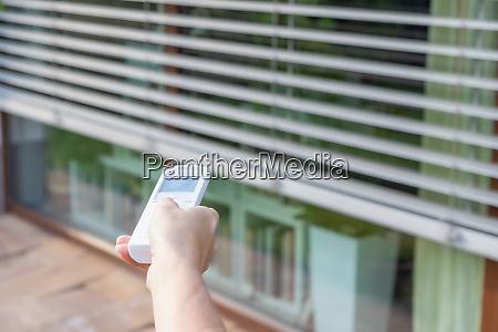 styre det eksterne vindue persienner koncept